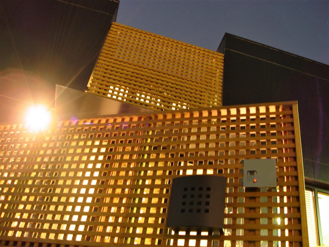 格子の門塀